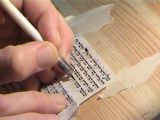 Writing a Mezuzah,To enlarge, click here