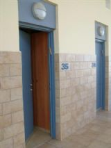 The Mezuzah placement at two third height of the doorpost, right to the entrance.