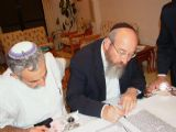 Writing the last letters of the Torah